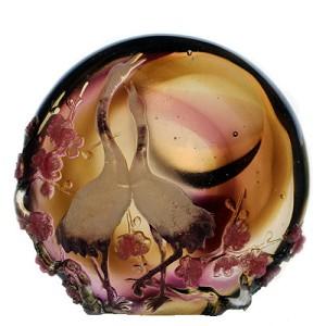 Liuli CrystalForever Love (Crane) - Moonlit Rendezvous