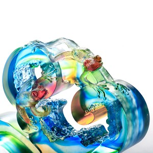 Liuli CrystalHappy and Content, You and Me - Frogs (Contentment)