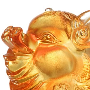 Liuli Crystal Pig of Plenty