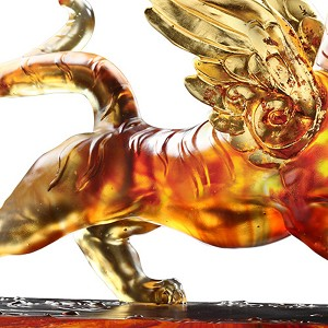 Liuli Crystal  Heavenly Wings of the Tiger