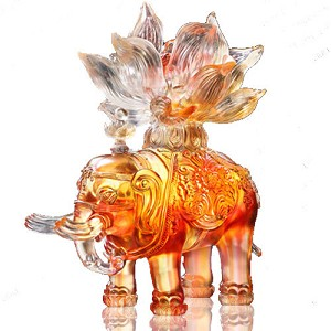 Liuli Crystal Elephant (Fortune) - Elephant of Fortune