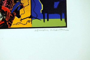 Romare Bearden Out Chorus 1978 Signed Print Color Etching