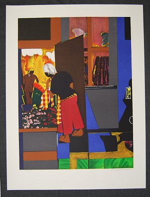 Romare Bearden  Open Door Artist Signed Lithograph