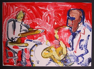 Romare Bearden Out Chorus Artist Signed Lithograph
