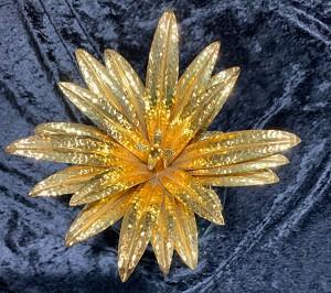 Swarovski Crystal Giant Pineapple Gold