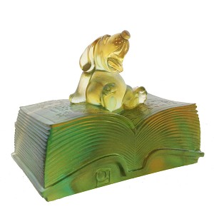 Liuli CrystalZodiac Dog, Knowledge Comes with Opening a Book - Reading