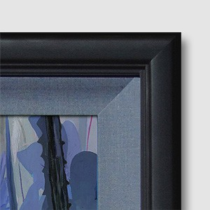 Jim Salvati  Perplexed Framed Giclee On Canvas