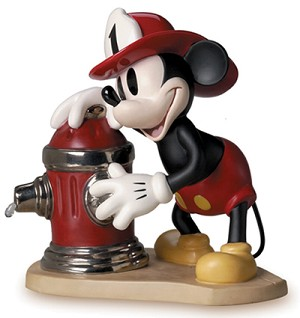 WDCC Disney Classics Mickey's Fire Brigade Mickey Mouse Fireman To The Rescue