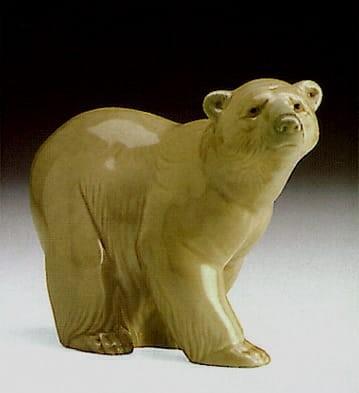 LladroAttentive BearPorcelain Figurine
