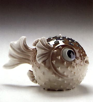 Lladro Blowfish Porcelain Figurine