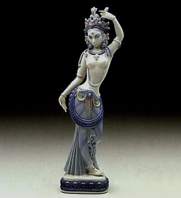LladroHindu DancerPorcelain Figurine