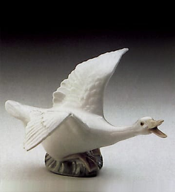 Lladro Duck Flying Porcelain Figurine