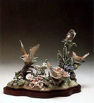 LladroSpring BirdsPorcelain Figurine