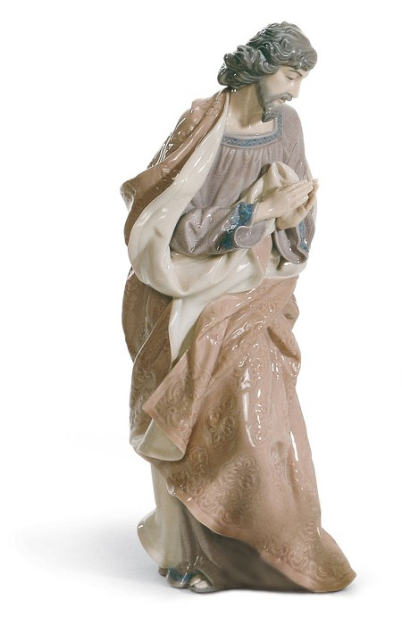 LladroSaint Joseph NativityPorcelain Figurine
