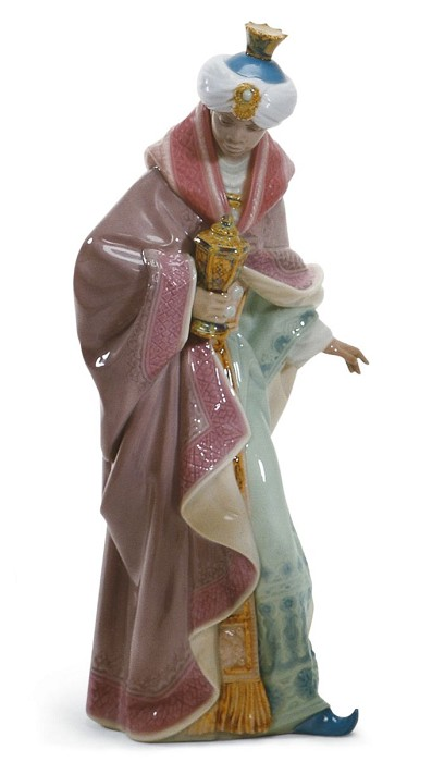 Lladro King Balthasar Porcelain Figurine