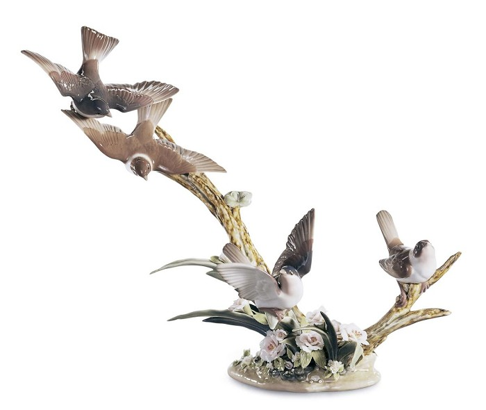LladroFLOCK OF BIRDSPorcelain Figurine