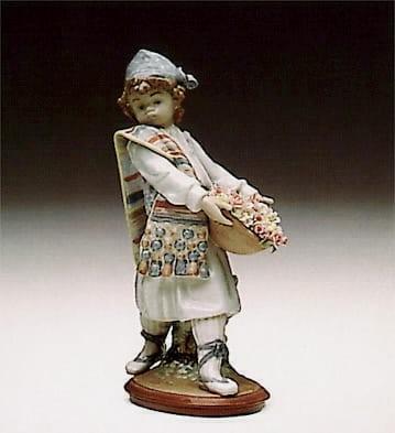 LladroValencian FlowersPorcelain Figurine