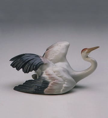 LladroFluttering CranePorcelain Figurine