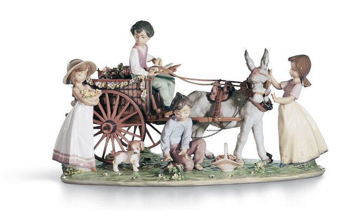 Lladro Enchanted Outing Le3000 1995-C