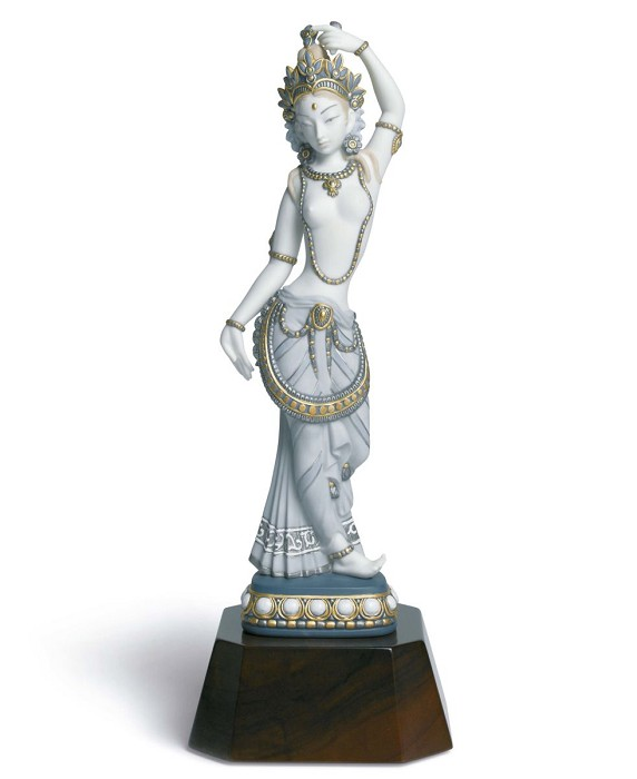 Lladro Hindu Dancer Porcelain Figurine