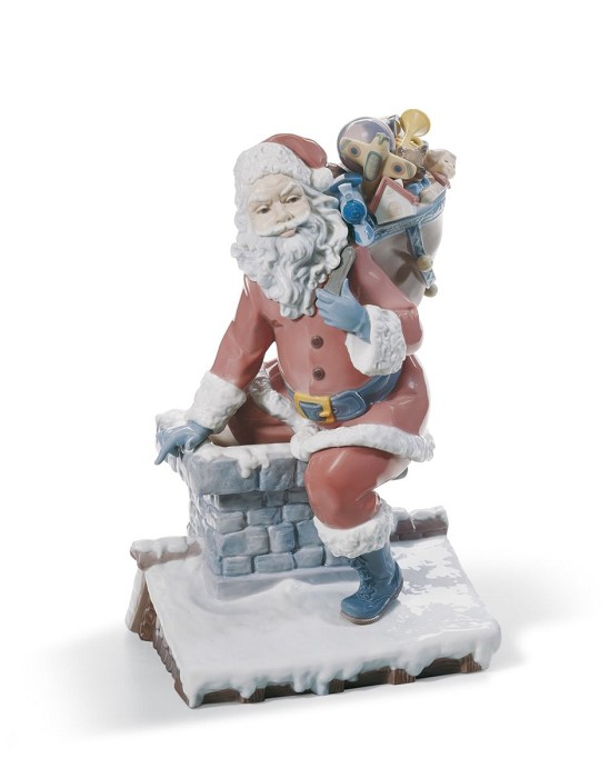 Lladro Down The Chimney Porcelain Figurine