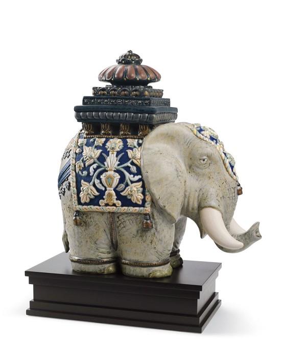LladroSiamese ElephantPorcelain Figurine