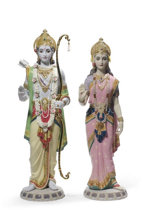 Lladro Rama and Sita Porcelain Figurine
