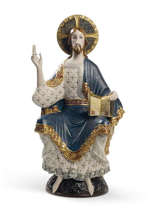 LladroRomanesque Christ SculpturePorcelain Figurine