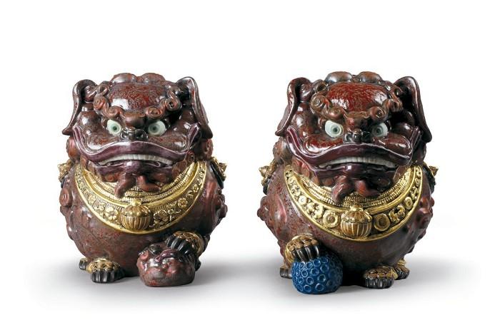 LladroGuardian LionsPorcelain Figurine