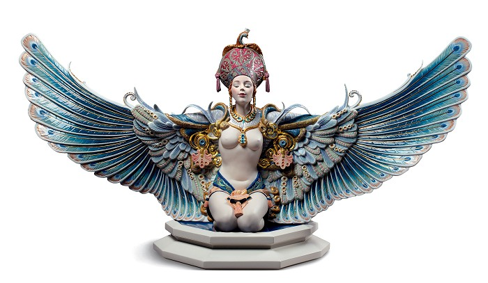 Lladro Winged fantasy Woman Porcelain Figurine