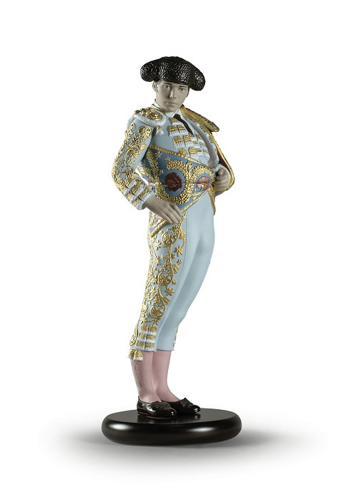 Lladro Bullfighter Blue Porcelain Figurine