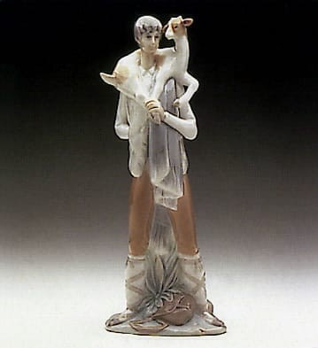 Lladro Shepherd Boy with Goat Porcelain Figurine
