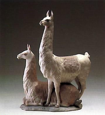 LladroLlama GroupPorcelain Figurine
