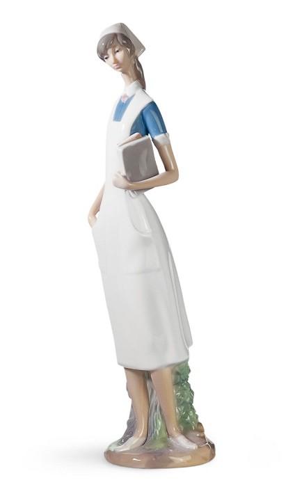 LladroNursePorcelain Figurine