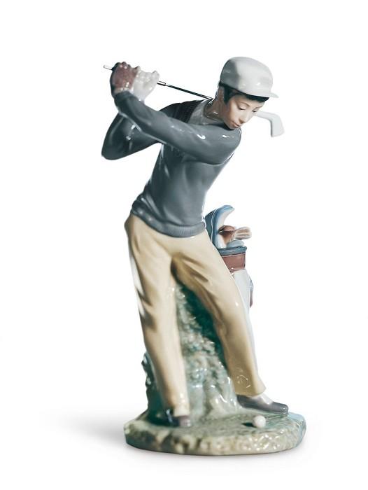 LladroGolferPorcelain Figurine