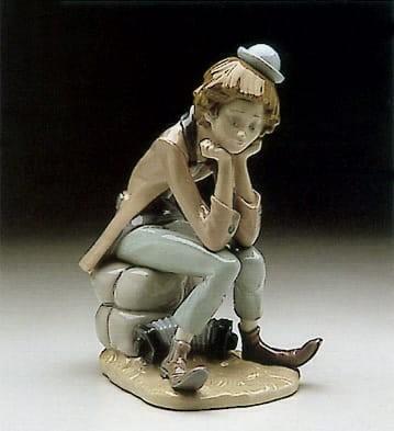 LladroClown ThinkingPorcelain Figurine
