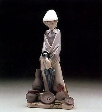 Lladro Ceramic Seller Porcelain Figurine