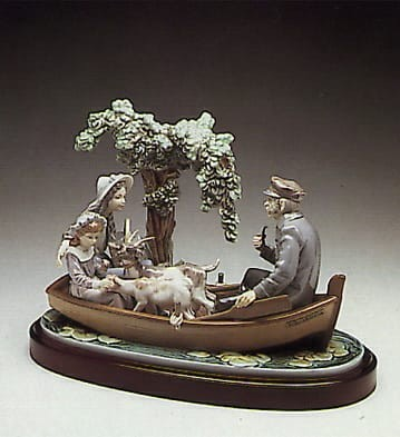 LladroOn the LakePorcelain Figurine