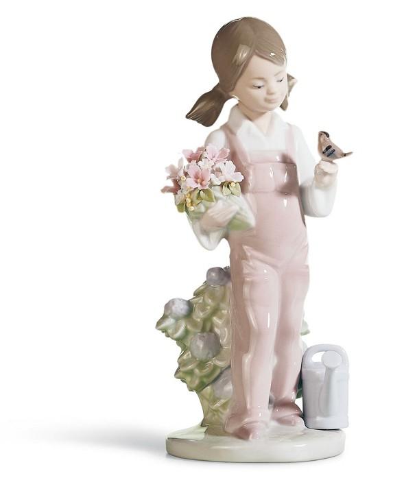 LladroSpringPorcelain Figurine