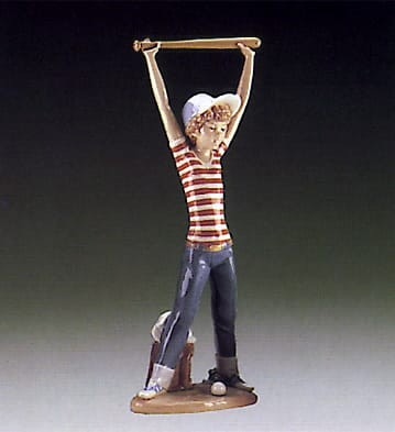 Lladro Little Leaguer Exercise Porcelain Figurine