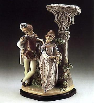 LladroMedieval CourtshipPorcelain Figurine