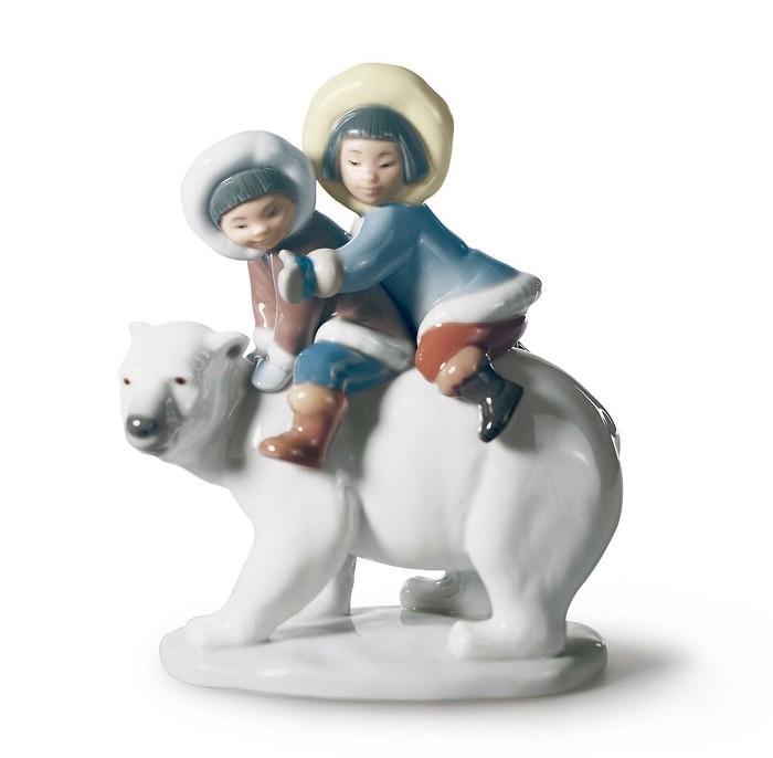 LladroEskimo RidersPorcelain Figurine