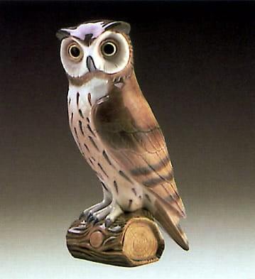 LladroShort Eared OwlPorcelain Figurine