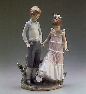 Lladro One, Two, Three Porcelain Figurine