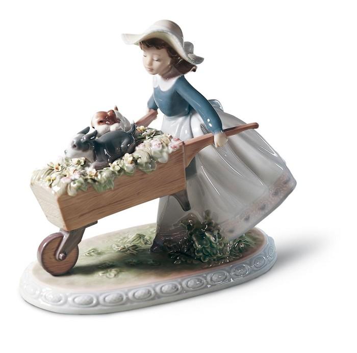 LladroA BARROW OF FUNPorcelain Figurine