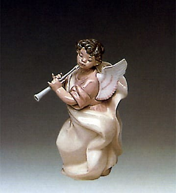 Lladro Angel w/Clarinet Porcelain Figurine
