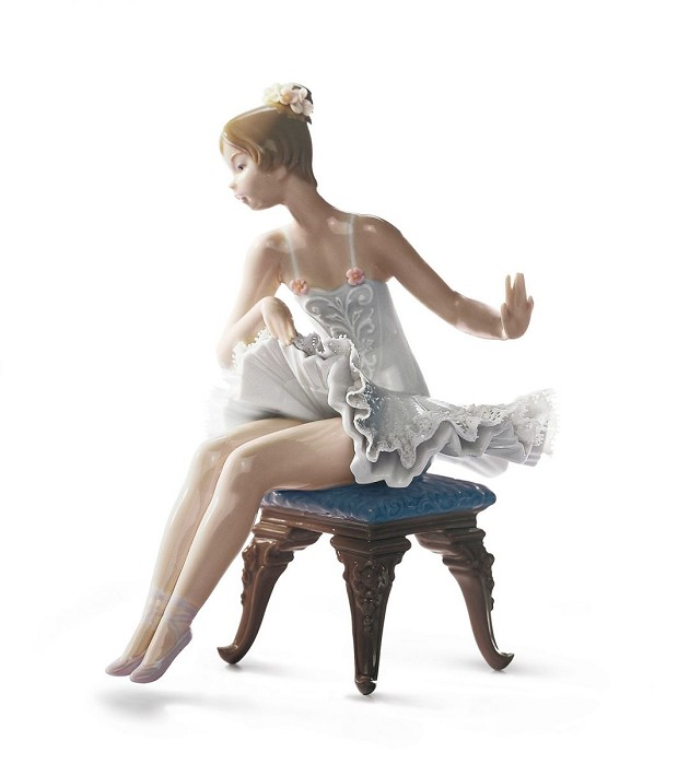 Lladro Recital Ballet Girl Mixed Media Sculpture