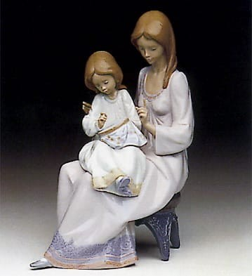 Lladro First Sampler Porcelain Figurine