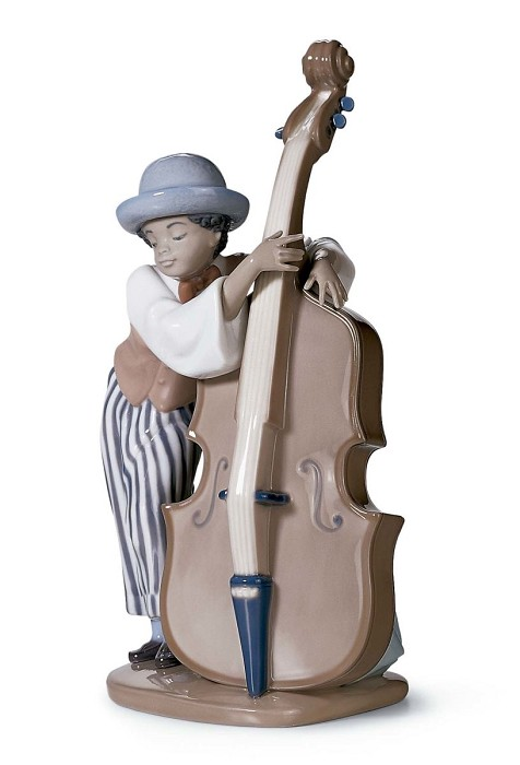 Lladro Black Legacy JAZZ BASS  Porcelain Figurine