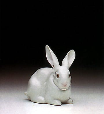 Lladro Attentive Bunny Porcelain Figurine